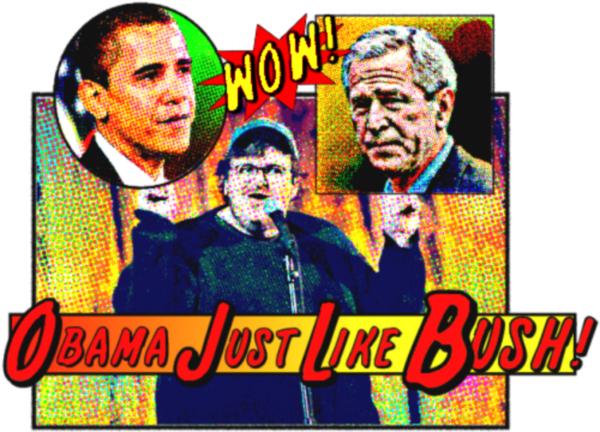 Michael Moore, Obama, Bush, Sicko