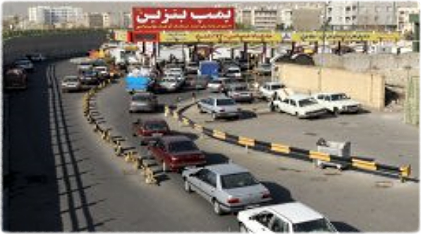 Gasoline, lines, petrol, station, Iran