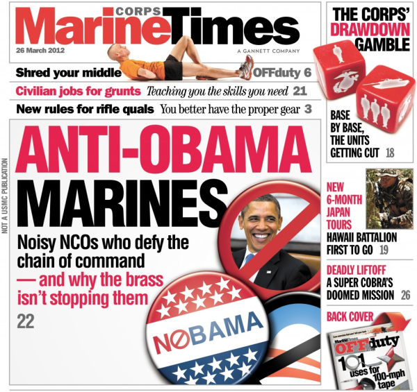 Marine times cover