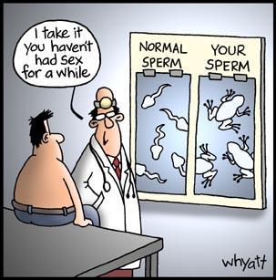 Sperm Very old man