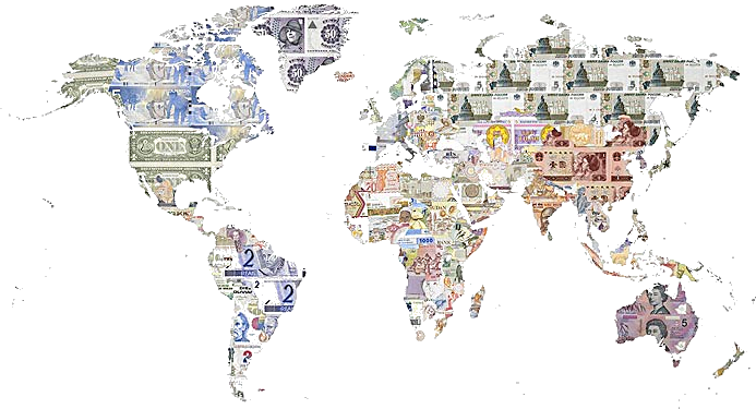 World currencies map