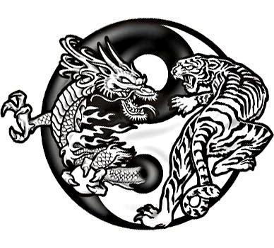 yin yang dragon tiger tattoo pic 1 www tattoodonkey com 116 kb 388 x ...