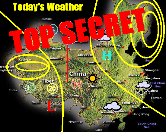 Everybody talks about the weather the steel deal chinas weather is top secret weathermapchinatopsecret gumiabroncs Images